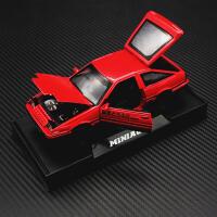 男孩小车儿童玩具车头文字D丰田AE86仿真合金车模小汽车模型摆件