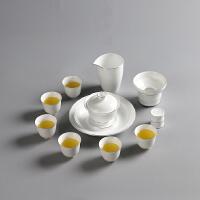 大山整套功夫茶具套装 脂白月下美人套组12入 青瓷三才盖碗 茶壶 品茗杯壶承