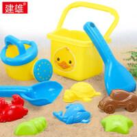 儿童沙滩玩具 宝宝戏水洗澡桶套装 10件组合玩沙挖沙铲子工具