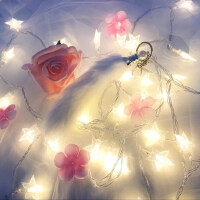 LED灯串星星灯彩灯闪灯串灯满天星房间布置装饰灯宿舍小灯泡创意