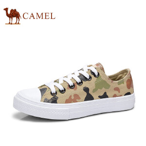 骆驼牌女鞋 个性帆女布鞋低帮学生鞋韩版平跟百搭潮鞋
