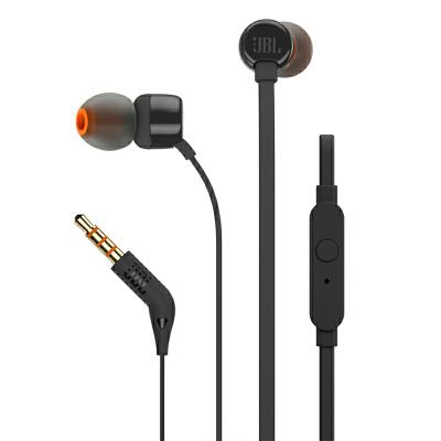 JBL T110入耳式通话耳机手机耳塞苹果安卓通用线控低音面条防缠绕纯低音 舒适轻盈