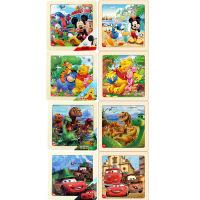 迪士尼拼图玩具 9片木制框拼八合一(米奇2666+米奇2685+维尼2668+维尼2687+恐龙2672+恐龙2691