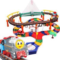 儿童拼搭玩具 男孩礼物和谐号轨道电动汽车小火车托马斯