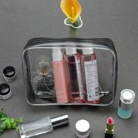 透明防水PVC洗漱包化妆包便携塑料零钱包中包旅行浴包洗漱收纳包 大号 放化妆品 牙刷 等