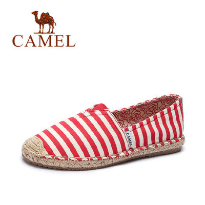 camel骆驼女鞋 春季新款帆布鞋 休闲百搭平底鞋 学生韩版懒人单鞋