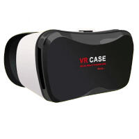 VR CASE 5plus手机3D立体眼镜虚拟现实魔镜近视可用buy+购物 眼镜标配 不加手柄 白色