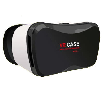VR CASE 5plus手机3D立体眼镜虚拟现实魔镜近视可用buy+购物 眼镜标配 不加手柄 白色 下单可备注颜色或*发货
