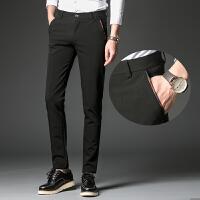 四季款商务休闲裤西装裤男士中青年直筒修身小脚裤纯色长裤子