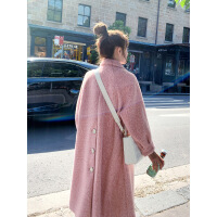 №【2019新款】冬天美女穿的 2018新款女装加厚中长款A字毛呢大衣呢子外套