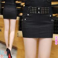 超短一步裙包臀半身裙女秋布裙紧身包殿包臂裙小包裙短裙包群性感 X