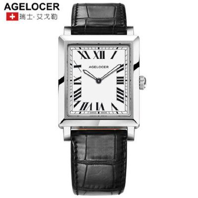 Agelocer艾戈勒瑞士女士手表防水时尚款女2017新款夜光石英表女表支持七天无理由退换货 零风险购