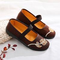 老北京布鞋女网鞋透气夏凉鞋妈妈鞋软底中老年女平底工作鞋奶奶鞋