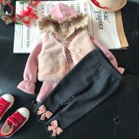 女童套装秋冬女宝宝三件套婴幼儿衣服