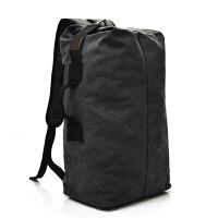 双肩包男士背包帆布包大容量水桶包户外登山旅行包运动多功能男包