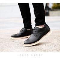 男鞋时尚休闲皮鞋新款低帮增高鞋商务正装鞋英伦风真皮皮鞋