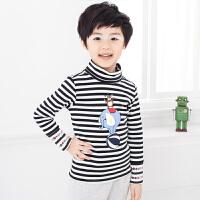 初语童装 冬装男童 条纹T恤条纹儿童打底衫男 T5401110011