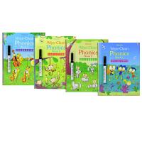 Usborne Wipe Clean Phonics 自然拼读可擦书 幼儿启蒙书籍 学习英文字母发音 附可擦笔 儿童英