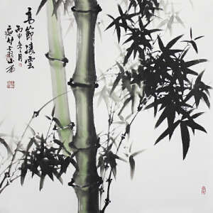 广西省美术家协会会员吴山雨 《高节凌云》69*69cm