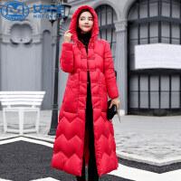 【11.11嗨购继续】中国风长款过膝加厚修身民族风棉衣女冬季新款羽绒棉外套