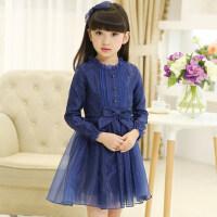 女童春装连衣裙 儿童裙子韩版中大童蕾丝公主裙礼服