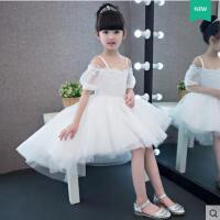 新款花童礼服前短后长吊带公主裙儿童礼服女童主持演出服 支持礼品卡支付