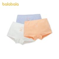 【2件6折价:29.9】巴拉巴拉儿童内裤棉质平角 女童短裤中大童小童亲肤可爱3条装