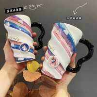 屿鹿大容量马克杯带盖勺情侣杯子陶瓷杯可爱水杯少女创意个性潮流