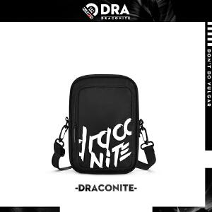 DRACONITE夏季新款欧美街头风单肩包字母涂鸦印花男士斜挎包12168