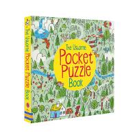 【首页抢券300-100】Usborne原版英文 Pocket Puzzle Book 口袋游戏活动书英语版 儿童益智解
