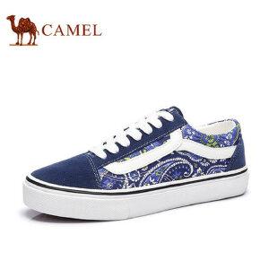 骆驼牌女鞋 新款帆布鞋女平跟休闲鞋时尚百搭