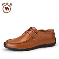 【每满100减50】骆驼牌男鞋 春季新品英伦 日常休闲皮鞋男士时尚系带低帮鞋