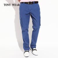TONYWEAR汤尼威尔春款户外男士棉弹力帆双侧袋青年休闲裤长裤