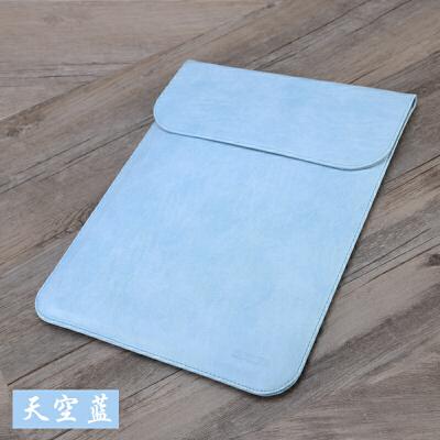苹果电脑包macbook12内胆包air13.3mac13笔记本11寸pro15保护套14英寸皮套公 天空蓝/竖款 11寸