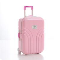 拉杆行李箱音乐盒 旋转的芭蕾女孩首饰盒 八音盒 摆件 创意礼物 多色可选