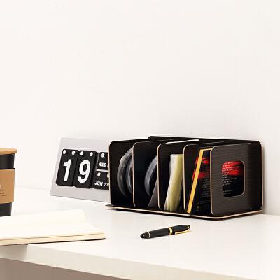 cd架碟片架创意CD架子DVD光碟影片收纳架木质收纳展示架桌面光盘CD盒储物柜