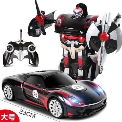 勾勾手 遥控汽车变形汽车人金刚遥控跑车变形机器人玩具男孩充电