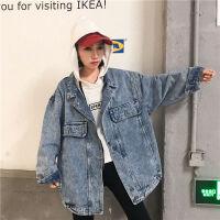 牛仔外套女春秋韩版学生2019bf原宿宽松牛仔衣怪味少女上衣夹克潮