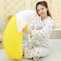 可爱1米香蕉抱枕爱情公寓毛绒玩具布娃娃水果抱枕创意礼物送女生 黄色 100cm一根