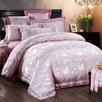 欧式 家纺家居床上用品四件套贡缎提花4件套被套床单