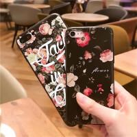 苹果6代手机壳iphone6plus浮雕硅胶6s保护套女款软壳字母玫瑰