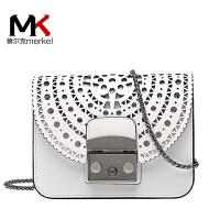 莫尔克(MERKEL)2020日韩新款小方包镂空单肩斜挎包mini链条锁扣包包包复古潮女