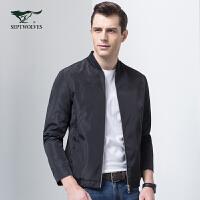 七匹狼夹克 2017新品时尚棒球领单夹克休闲jacket夹克男装外套