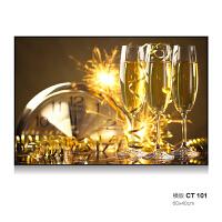 简欧餐厅背景墙面装饰画客厅挂画现代简约香槟酒杯单联幅壁画香槟SN5364 60*80 单块价格新品19天发货