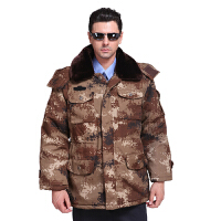 迷彩大衣 多功能防寒大衣保安大衣荒漠迷彩大衣冬季军大衣