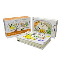 Matthew Van Fleet Alphabet & Heads 字母头部 儿童触摸纸板科普操作书2册 3D趣味益智