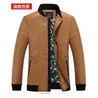 战地吉普AFS JEEP秋装新款男装皮夹克 休闲直筒仿皮皮衣男 时尚小立领棒球服外套