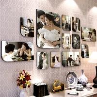 韩式水晶客厅照片墙相框墙创意组合儿童卧室相片墙婚纱照简约现代 大韩水晶照片墙组合
