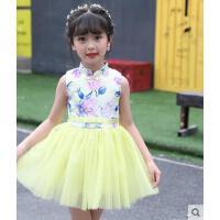 女童连衣裙新款儿童公主裙小女孩裙子中国风碎花裙蓬蓬裙儿童服装支持礼品卡支付