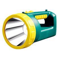 雅格强光手电筒充电式探照灯LED手提灯可充电高亮远射程巡逻户外